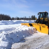 The V-plow is designed to operate at airports, car parks or other wide areas