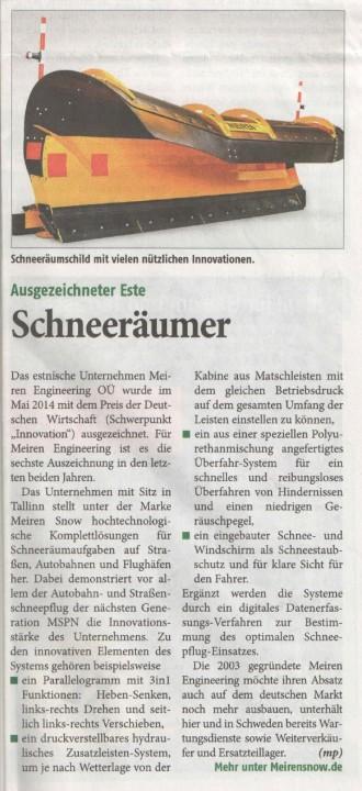 Ausgezeichneter Este Schneeräumer Taspo 15.08.2014 nr 33