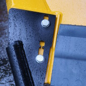To reduce the impact relief of moldboard contact to curbstone use side blades