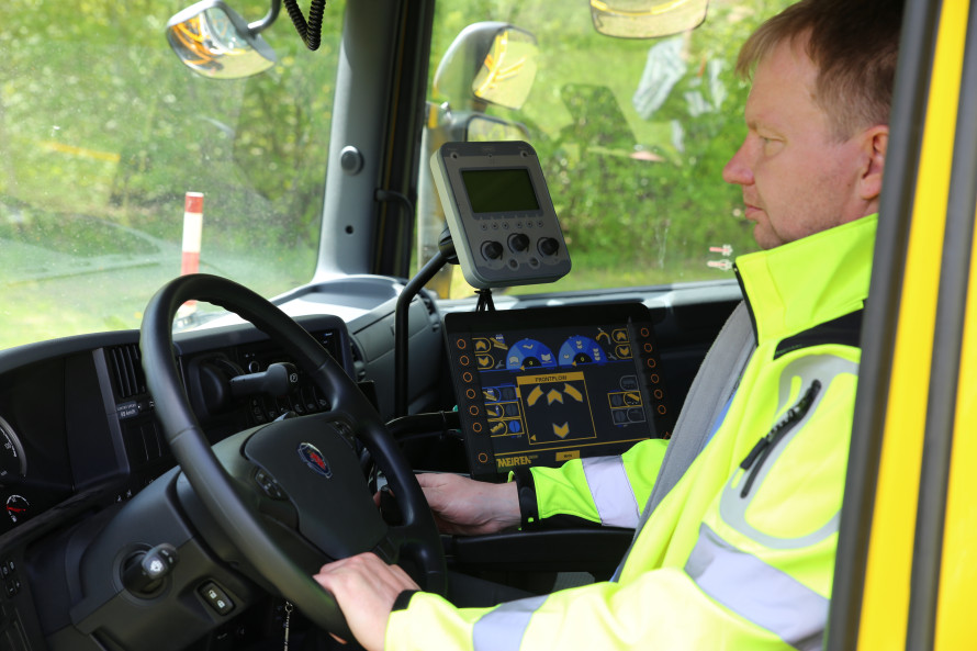 New control system for road maintenance vehicle