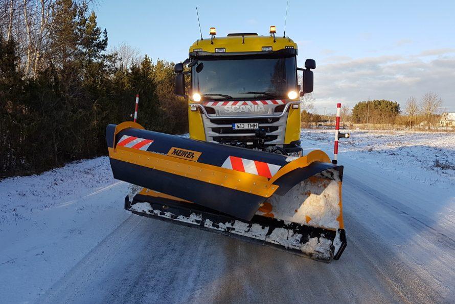 Meireni patenteeritud polüuretaan terahoidikutega maantee lumesahk MSPN04