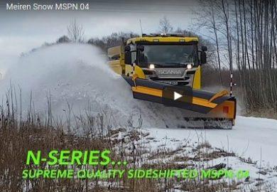 Video aus Meiren neuen N-Serie Schneepflug MSPN-04