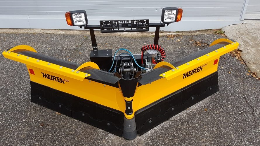 New V-plow for is perfect for the snow removal in cities and towns
