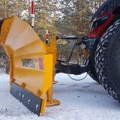 Plogbladets design i VTS-serien gör det möjligt att kasta snö ännu högre och i högre hastigheter
